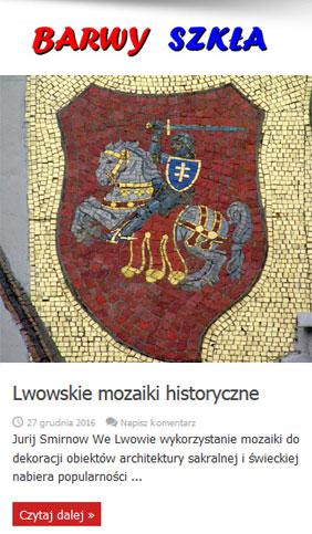 Barwy Szkła - witraż i mozajka - Lwowskie mozaiki historyczne