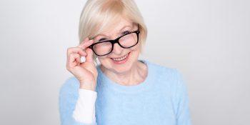 Okulary do czytania dla seniora